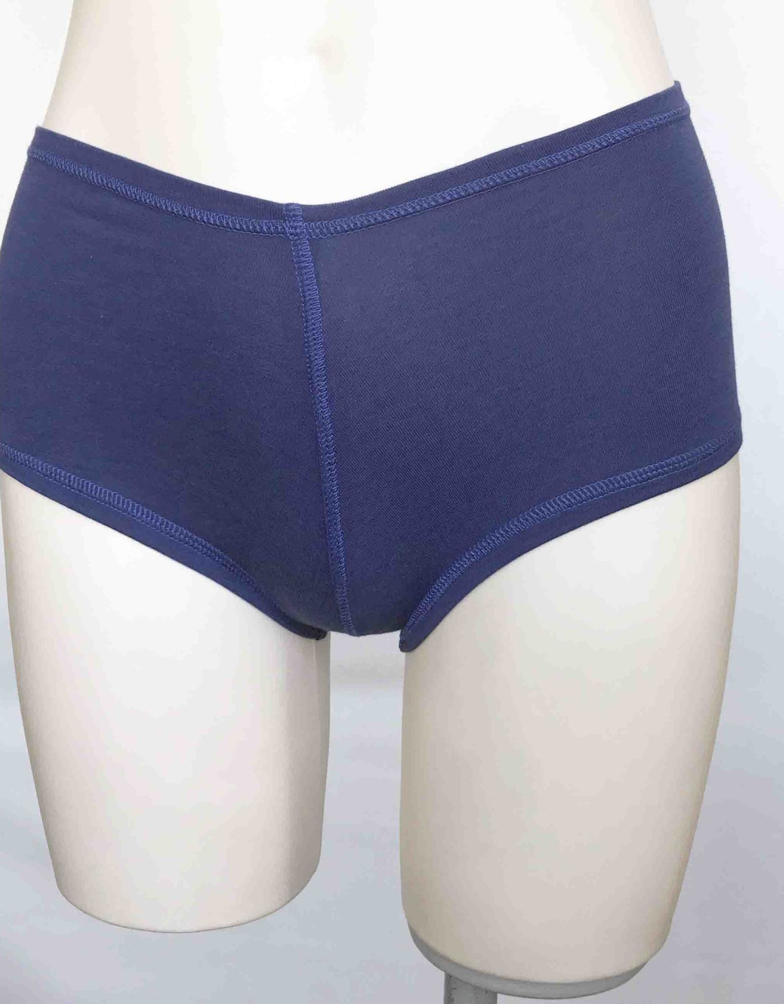 Devil May Wear Hot Shorts Bamboo Blend Underwear. Cobalt