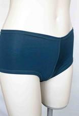 Devil May Wear Hot Shorts Bamboo Blend Underwear. Dark Teal