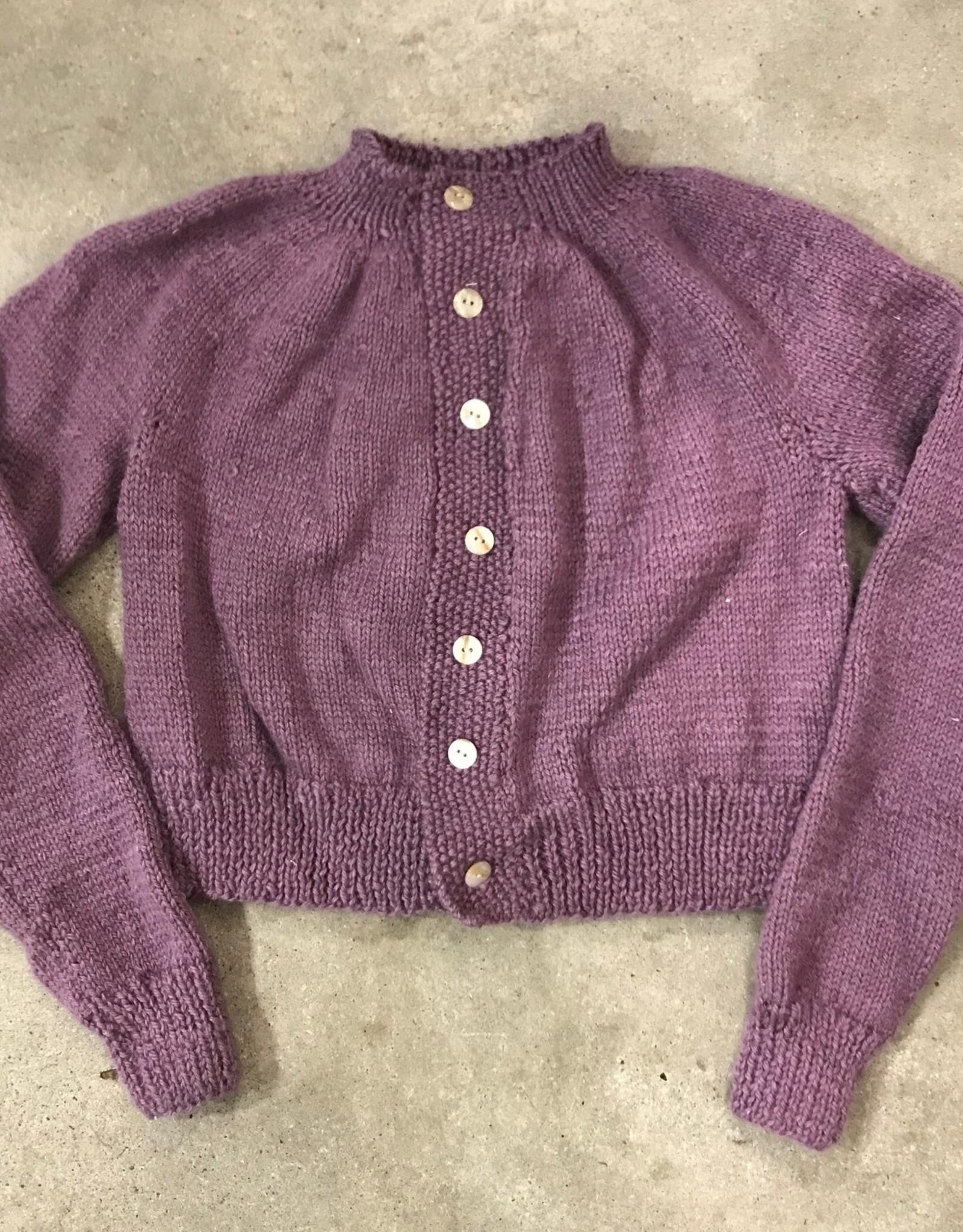 Devil May Wear Jocelyn Cardigan Small, Flint, 84% Baby Alpaca, 16% Cashmere