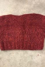 Devil May Wear Monica Crop Sweater, Large, Scarlet, 100% Wool