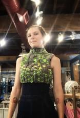 Devil May Wear Molly Vest, Small, Grey/Neon, 60% Acrylic, 40% Wool