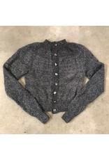 Devil May Wear Jocelyn Cardigan Charcoal, 50% silk, 50% wool