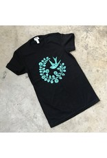 Devil May Wear Chickadee Short Sleeve Crew, Black, 100% Organic Cotton