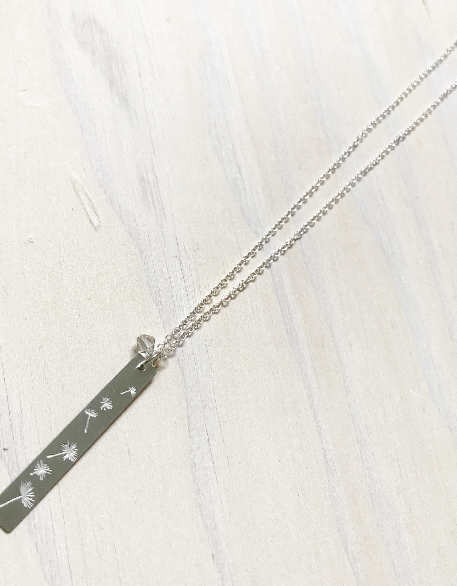 Devil May Wear Dandelion Fluff Necklace, Silver Plated, Solid Silver Chain