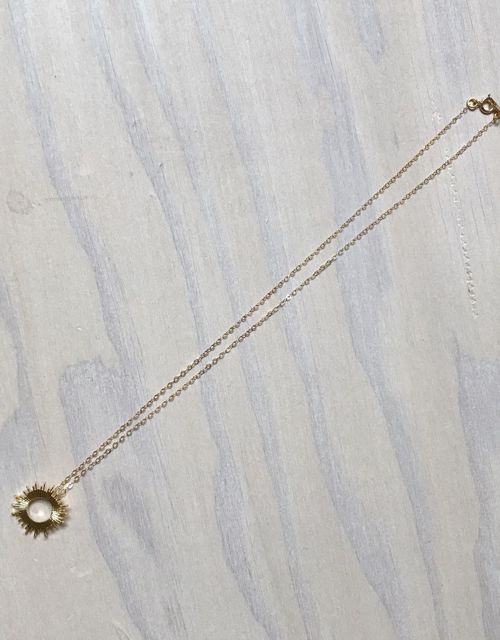Devil May Wear Raggio Di Sole Necklace, Gold Plated, Gold Fill Chain