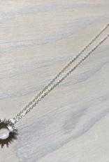 Devil May Wear Raggio Di Sole Necklace, Silver Plated, Solid Silver Chain