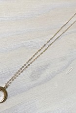 Devil May Wear Luna Crescente Necklace, Gold Plated, Gold Fill Chain