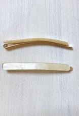 Young & Heart Thin Resin Hair Pin Pair. Yellow
