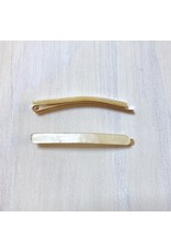 Young & Heart Thin Resin Hair Pin Pair. Yellow