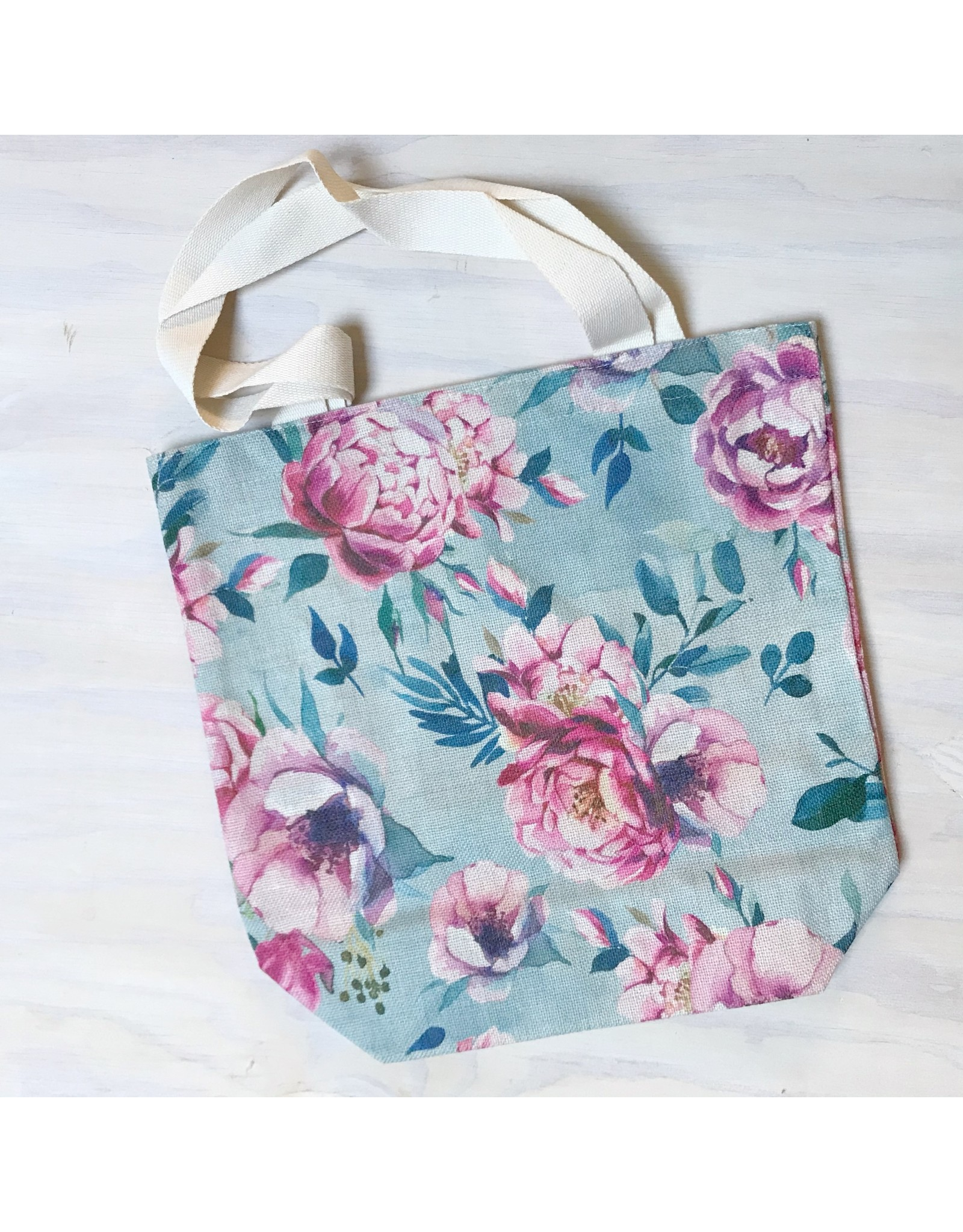"Young & Heart All Over Floral Tote 13""x13"""