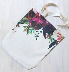 "Young & Heart Bright Bouquet Tote 13""x13"""