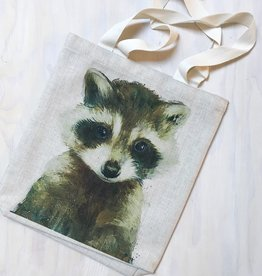 "Young & Heart Racoon Tote 13""x13"""