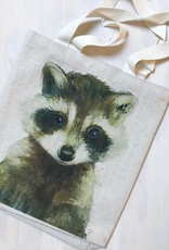 """Young & Heart Racoon Tote 13""""x13"""""""