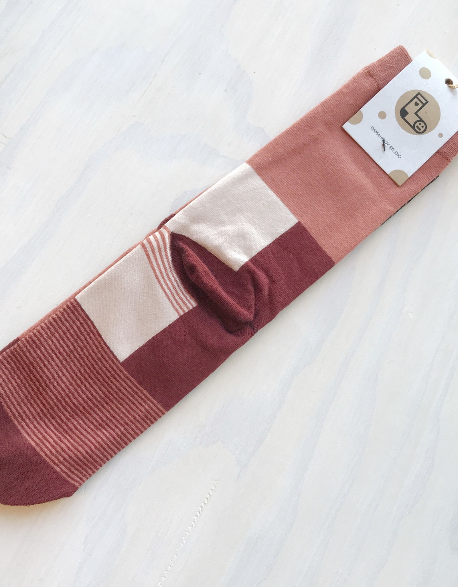 Young & Heart Red Forest Socks