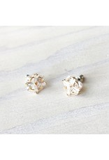 Young & Heart North Star Studs, Gold, Silver posts