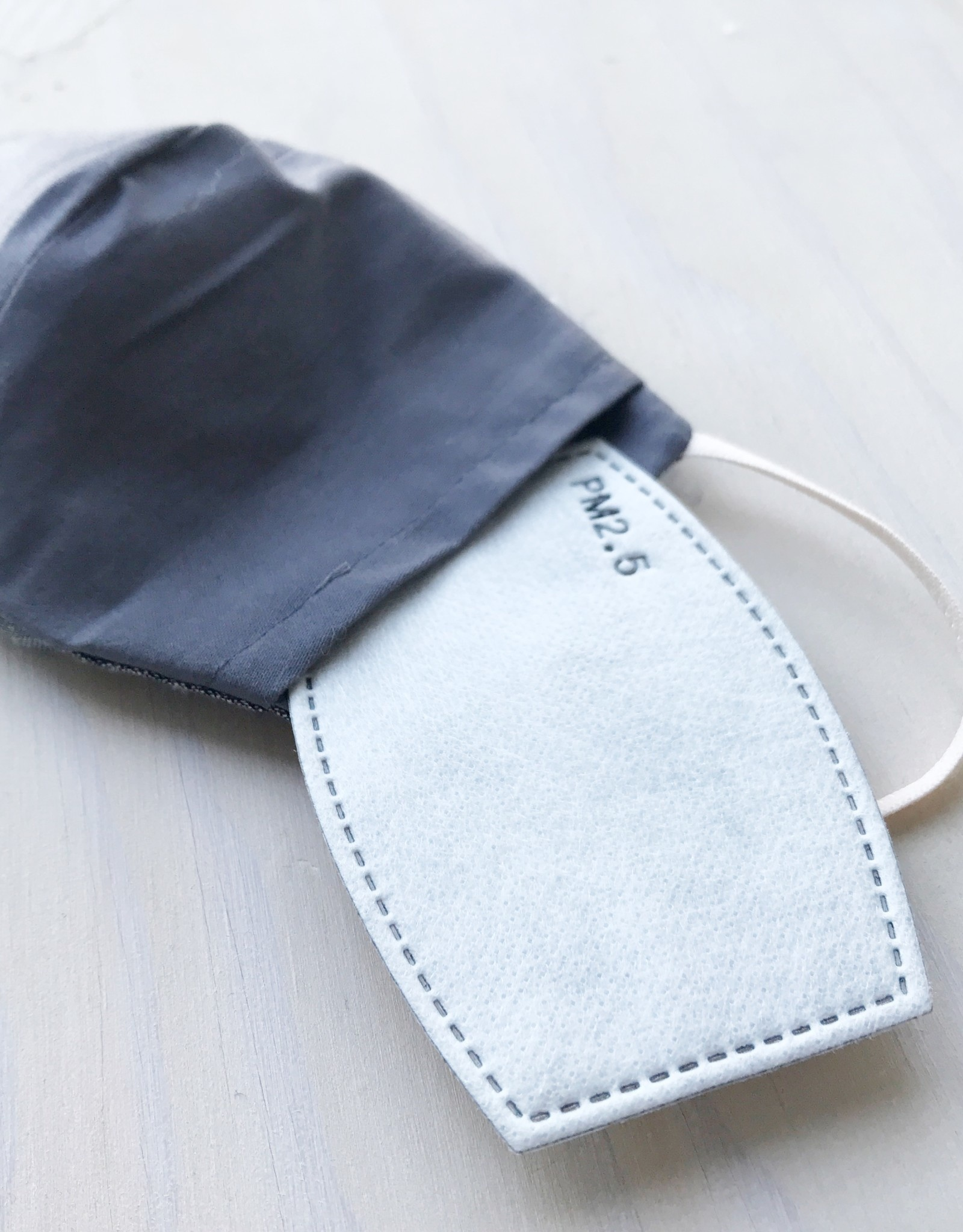 Devil May Wear Two Layer Around the Ear Masks with Filter and Filter Pocket, Cotton, Blue Clouds