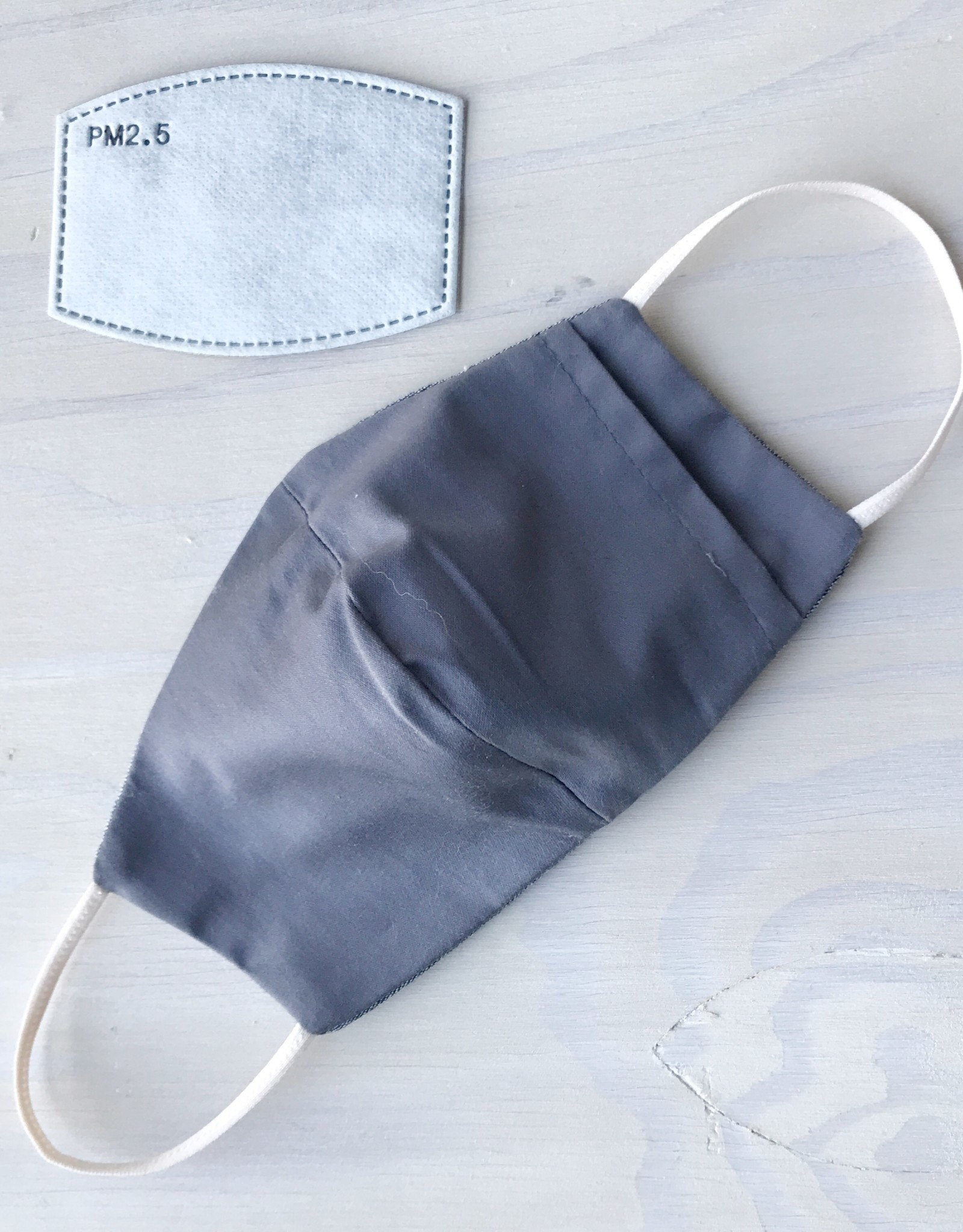 Devil May Wear Two Layer Around the Ear Masks with Filter and Filter Pocket, Cotton, Blue Anchors