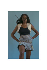 Devil May Wear Luna Skirt, Polyester Linen Blend