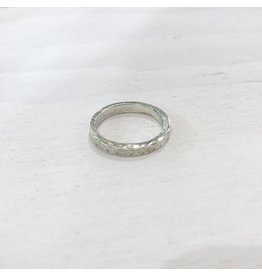 Chris Gillrie Hammered and Pickled Silver Ring