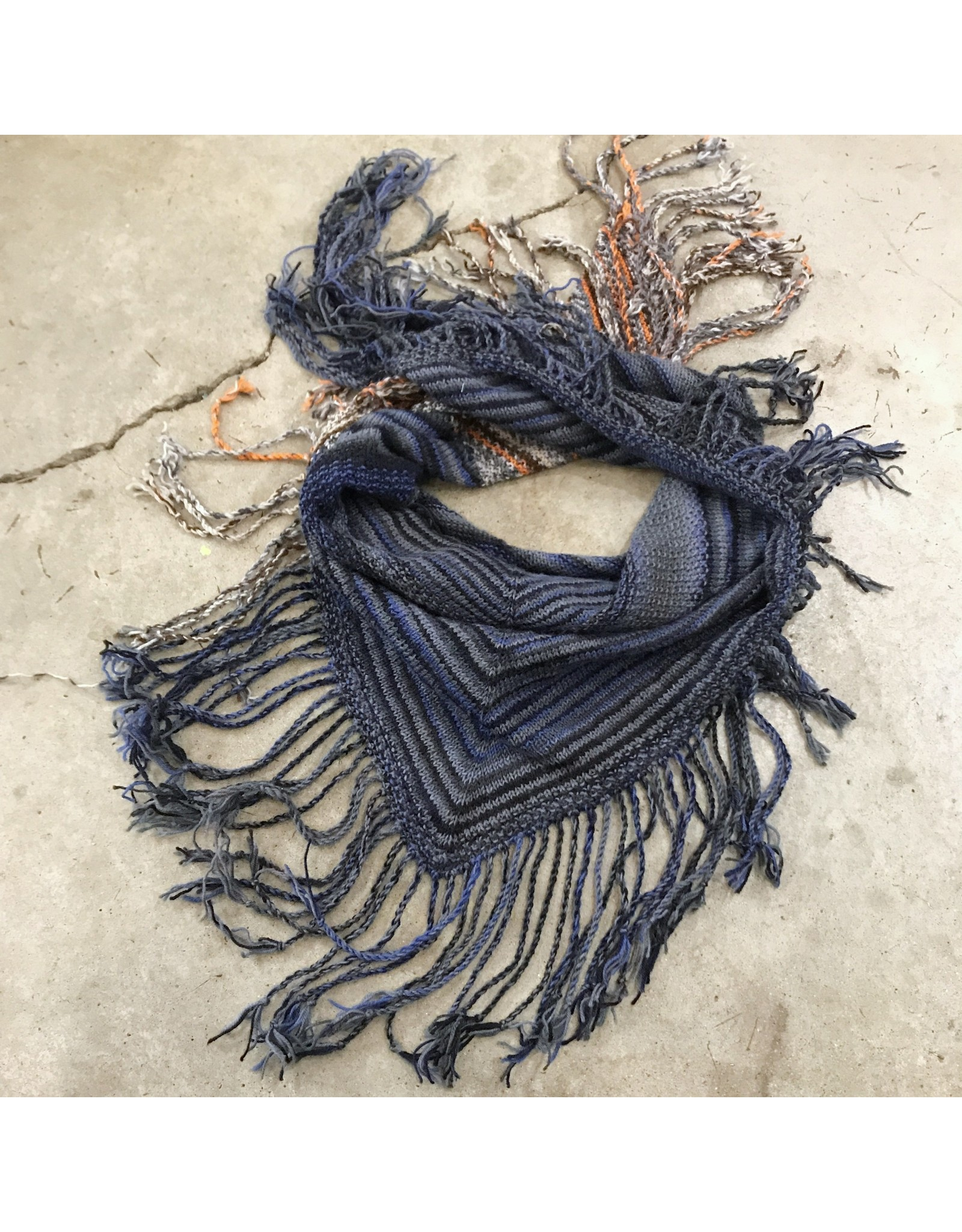 Devil May Wear Only She Knows Fringed Scarf, 95% Wool, 5% Nylon