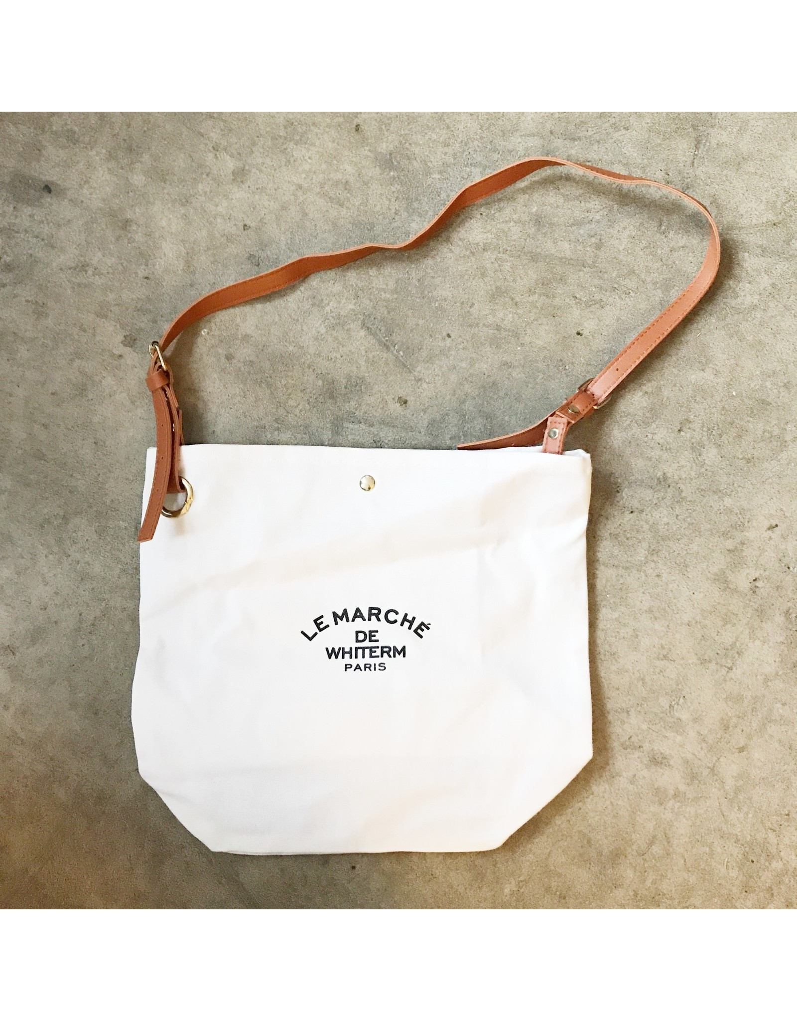Young & Heart Le Marche Canvas Shoulder Bag with Adjustable Strap and Inside Pocket