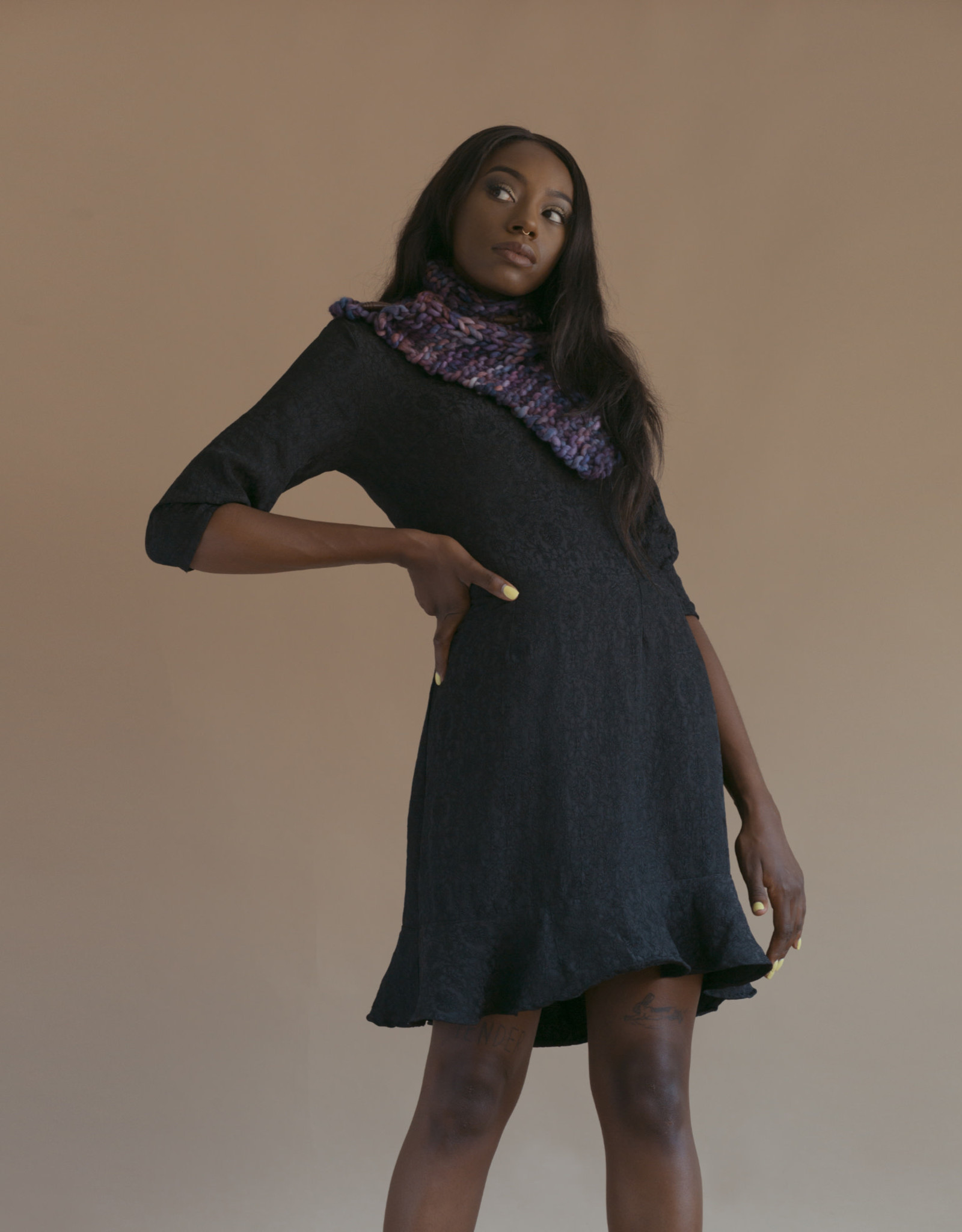 Devil May Wear Lydia Dress, 100% Polyester, Small