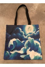 Young & Heart Canvas tote, Waves