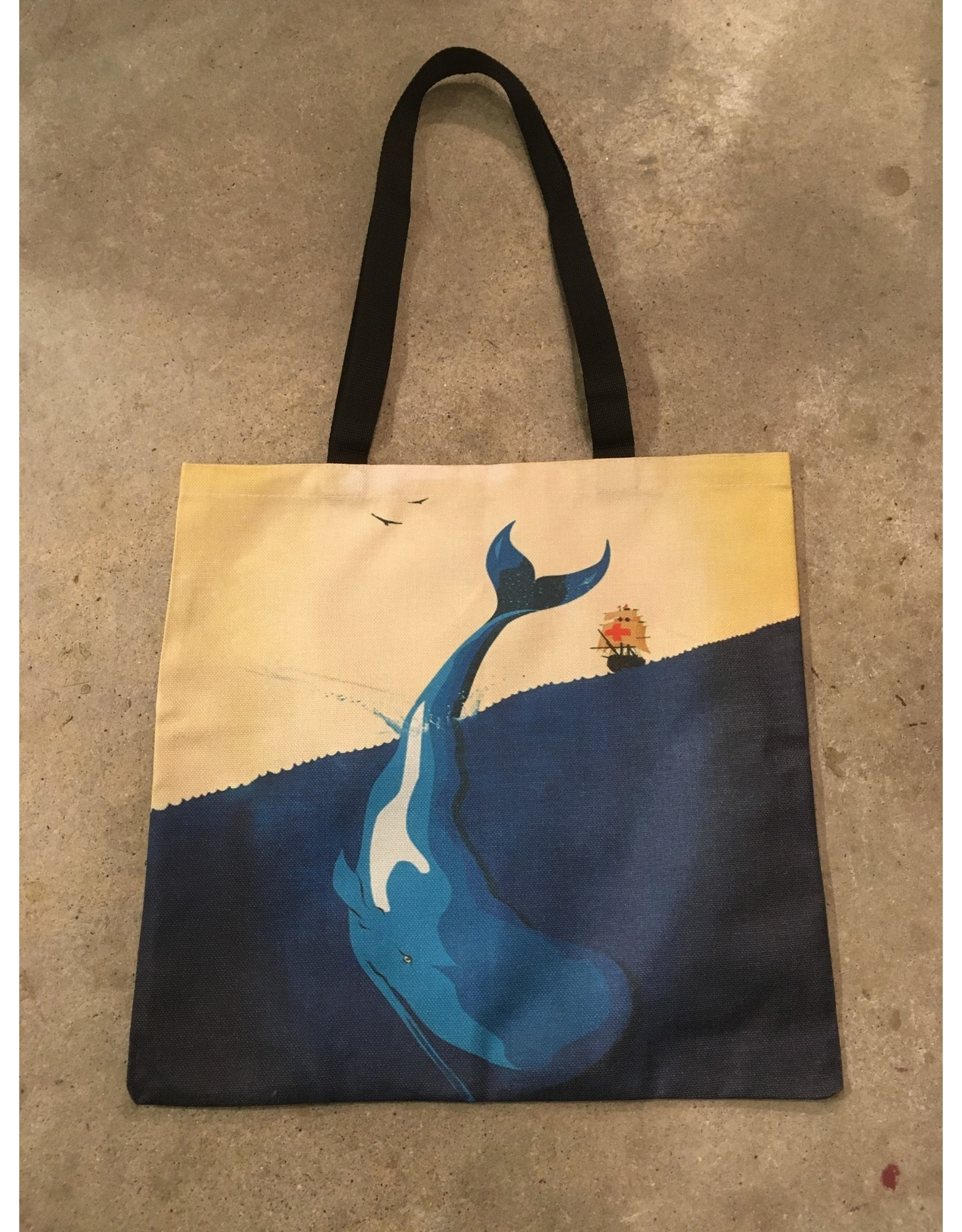 Young & Heart Canvas Tote, Out to Sea