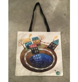 Young & Heart Canvas Tote, Little World