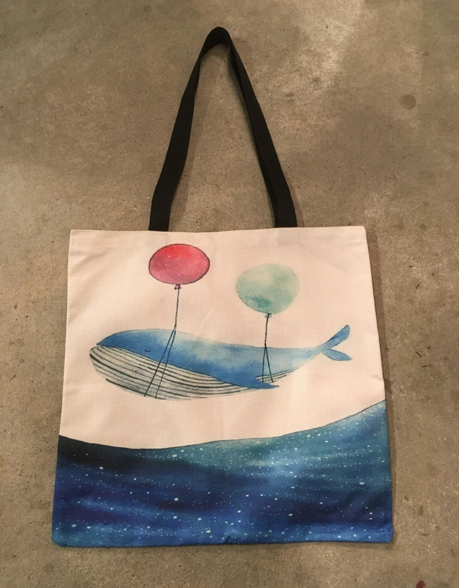 Young & Heart Canvas Tote, Float Away
