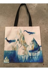 Young & Heart Canvas Tote, Crystals and Whales