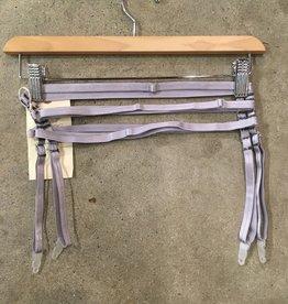 Cage Garter Belt. Silver. Large