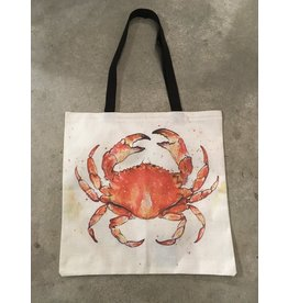 Young & Heart Canvas Tote, Crab