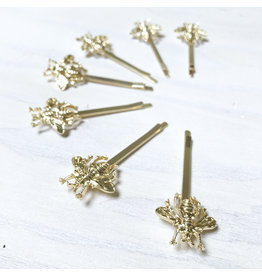 Young & Heart Bee Bobby Pin, Gold