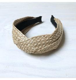 Young & Heart Straw Summer Twist Headband