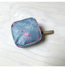 Young & Heart Mini Zip Pouch, Flamingo