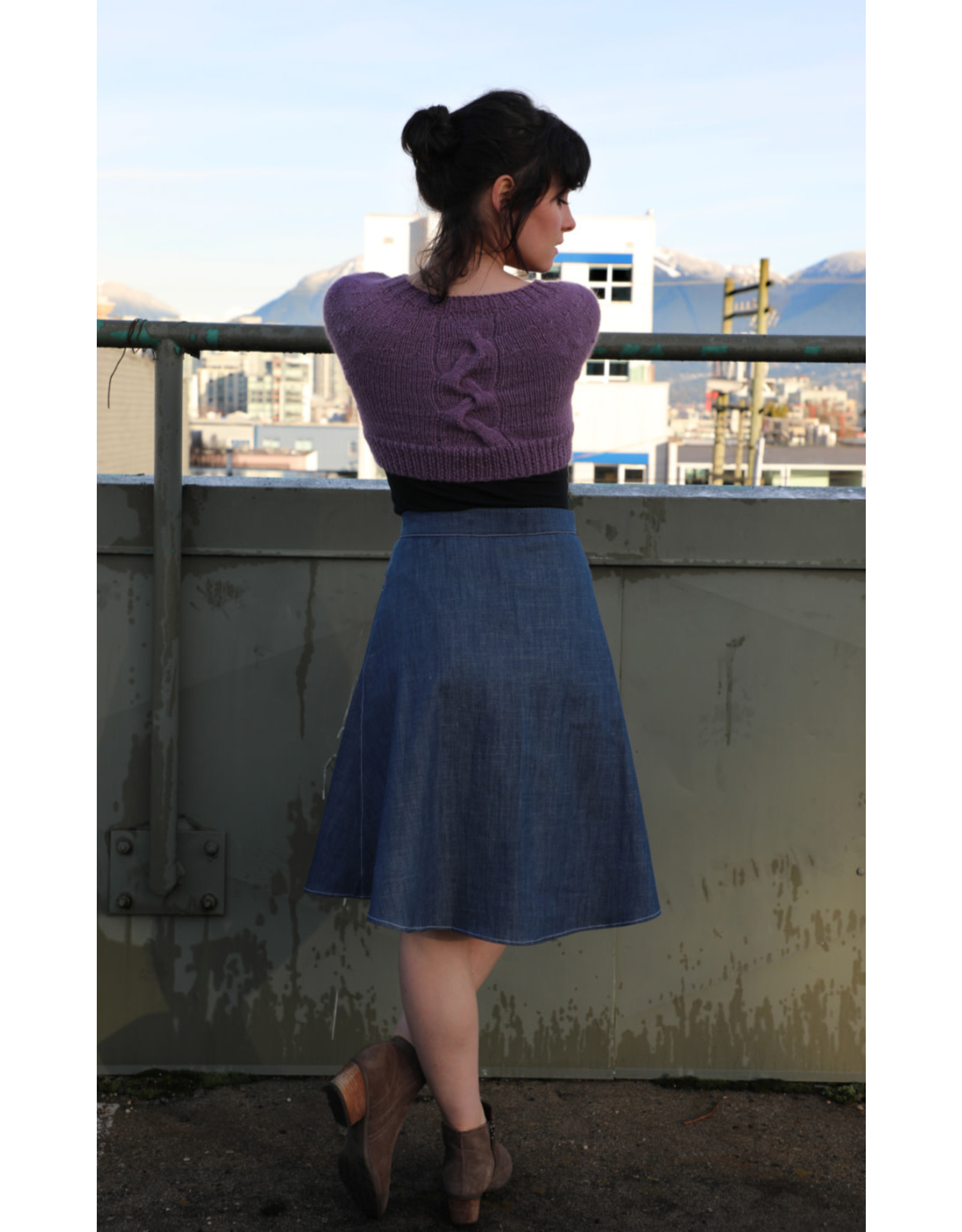 Devil May Wear Toni Skirt. Button Front, 100% Cotton milled in France.