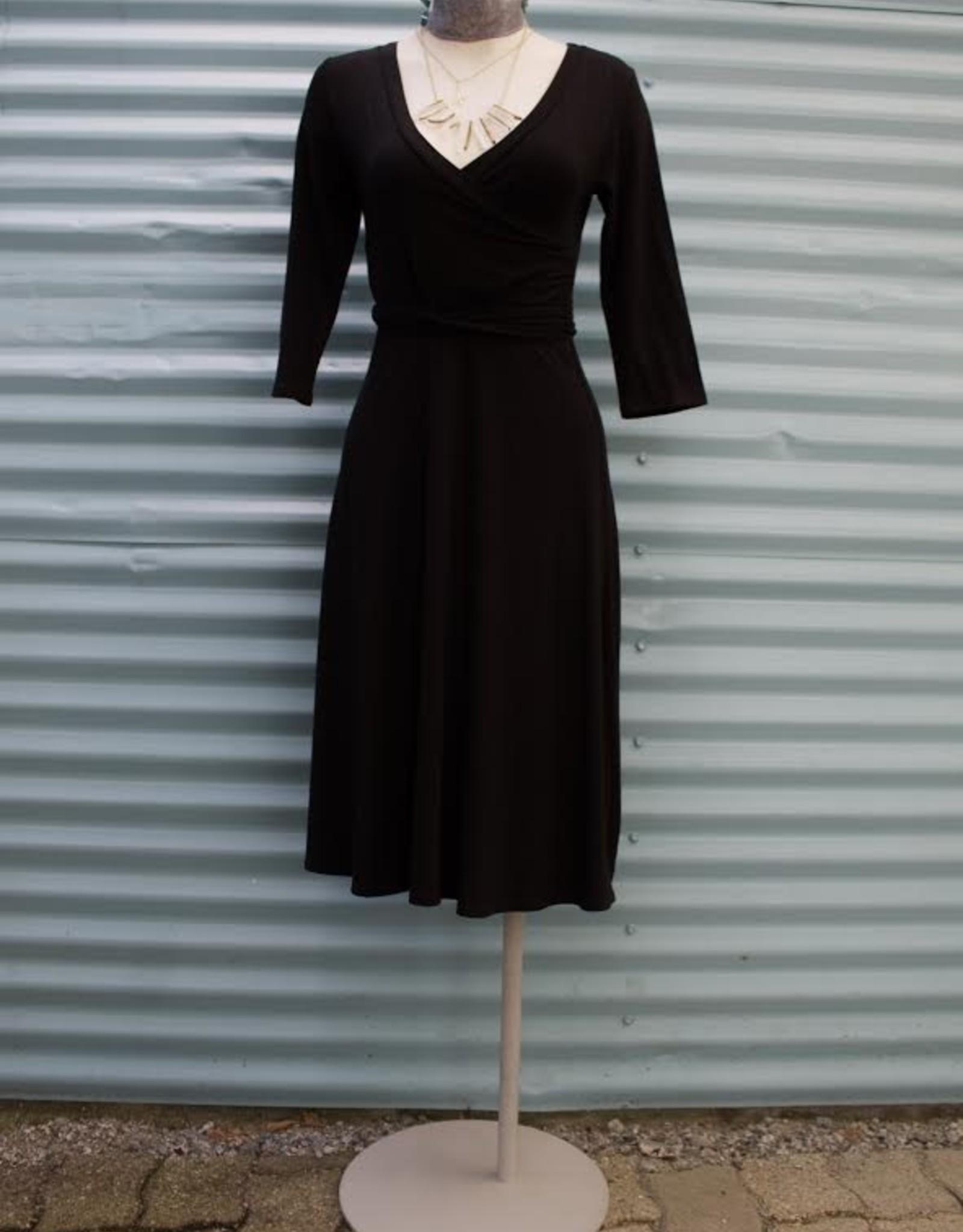 Gilmour Bamboo Faux Wrap Dress, Gilmour, Black