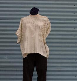 Gilmour Hemp Cotton Short Sleeve Boxy Top, Gilmour, Natural Stripe