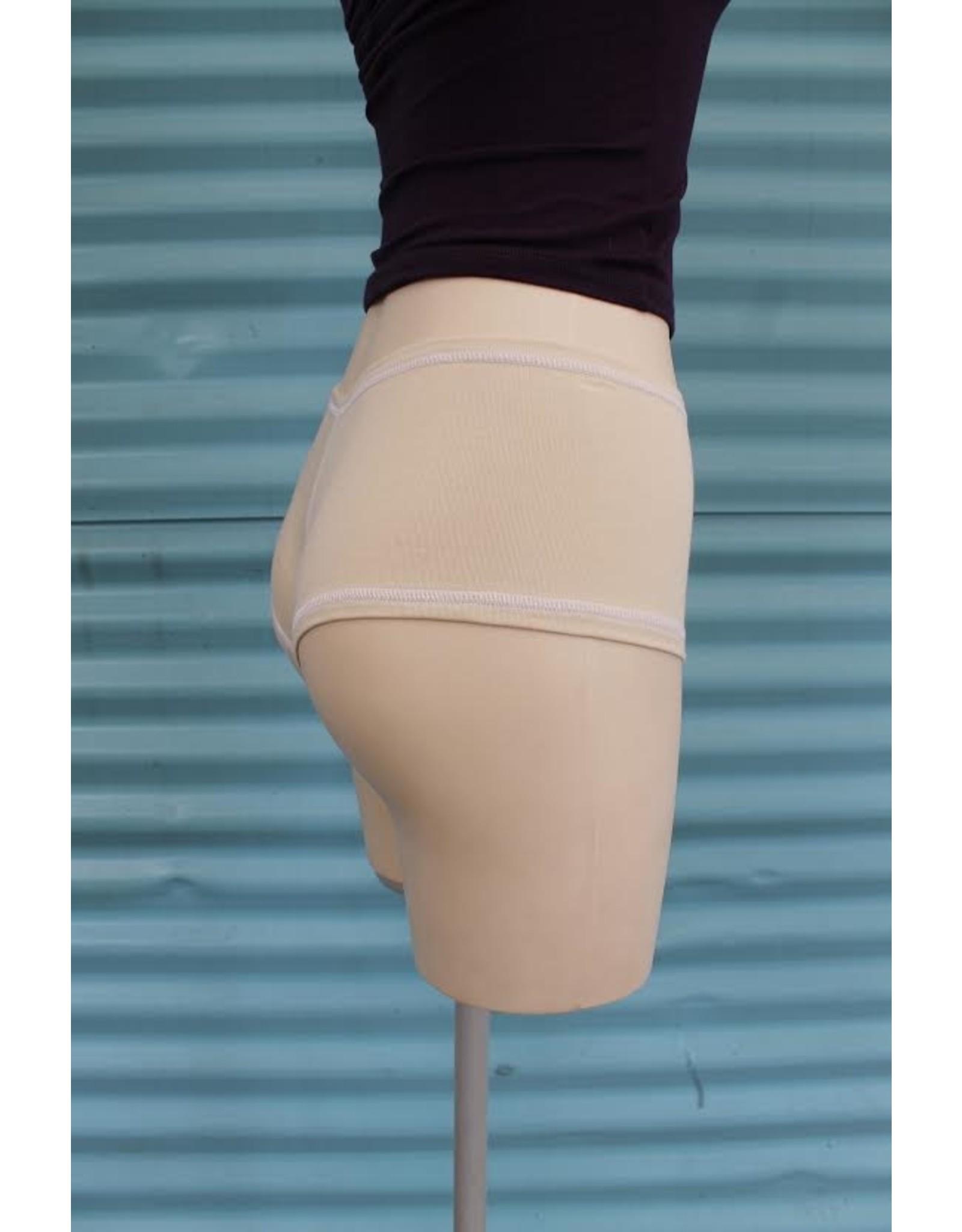 Devil May Wear Hot Shorts Bamboo Blend Underwear. Cream