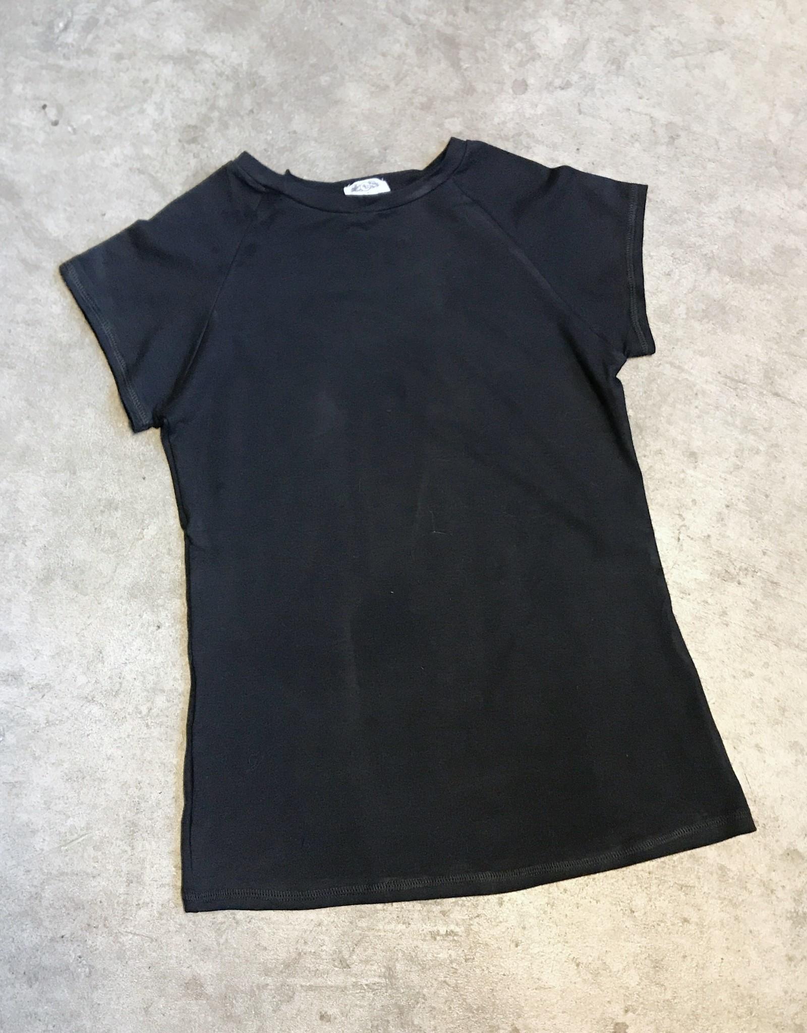 Devil May Wear Ideal Crewneck Raglan, Bamboo from Rayon/Cotton/Spandex, Black
