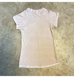 Devil May Wear Ideal Crewneck Raglan, Bamboo from Rayon/Cotton/Spandex, Blush