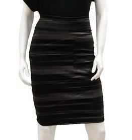 Gilmour Gilmour Print Ponte Pencil Pocket Skirt, Black Stripe