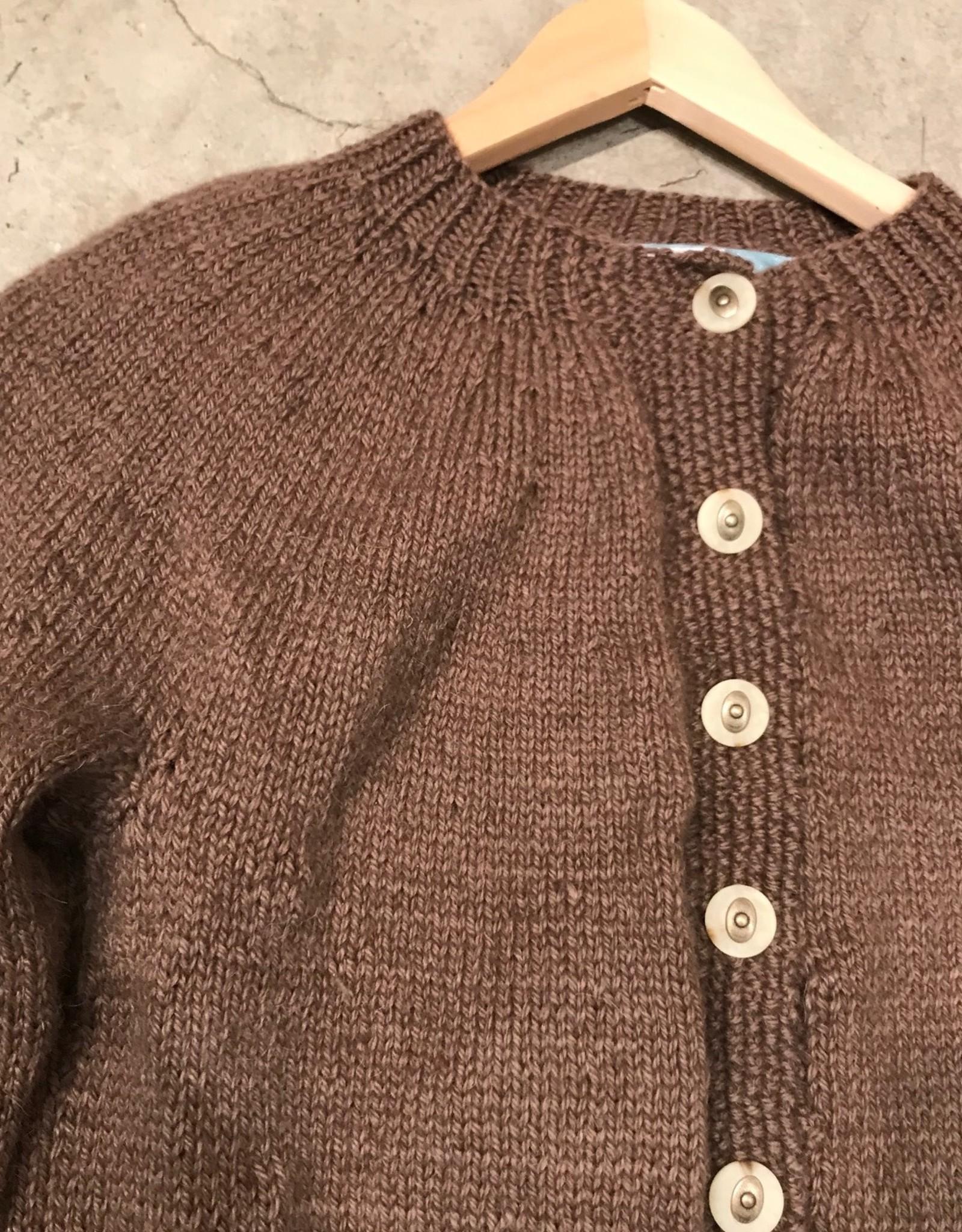 Devil May Wear Jocelyn Cardigan Medium, Woodland, 84% Baby Alpaca, 16% Cashmere