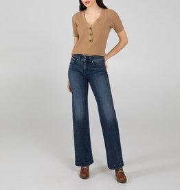 Silver Brand Jeans Avery High Rise Trouser Leg Jeans, Indigo