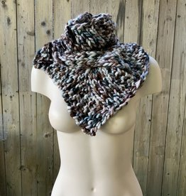Devil May Wear Summerhill Cable Cowl. Hand Dyed. Hand Knit. 100% Merino Wool. Autumn Leaves