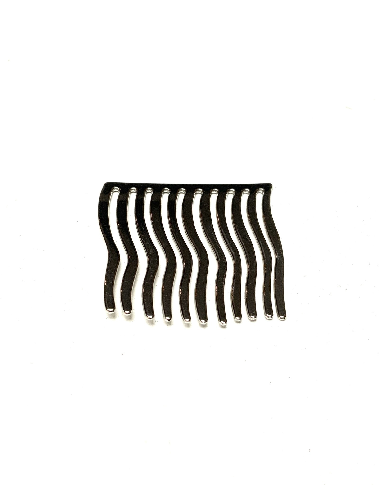 Young & Heart Wavy Hair Comb, Silver