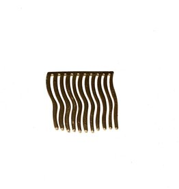 Young & Heart Wavy Hair Comb, Gold