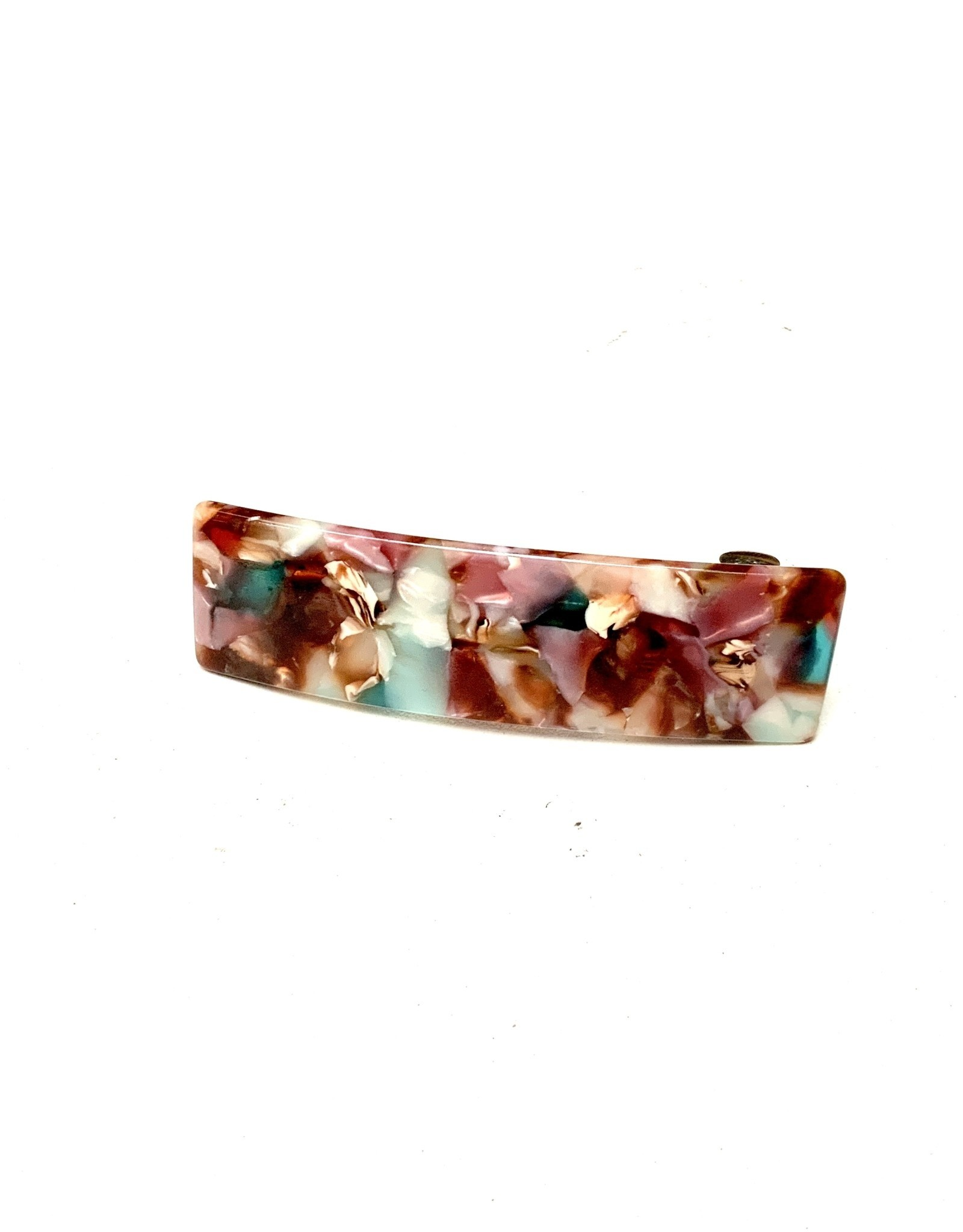 Young & Heart Resin Hair Barrette, Marble Gems