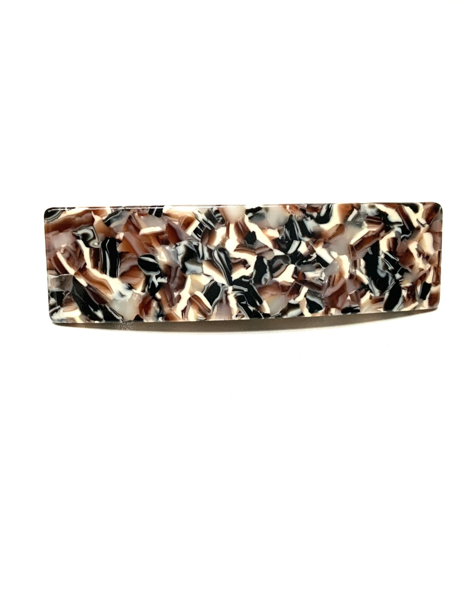 Young & Heart Resin Hair Barrette, Marble Cedar